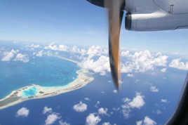 tahiti vue d'avion