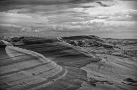 Sculpture éolienne au sommet de la dune du Pyla