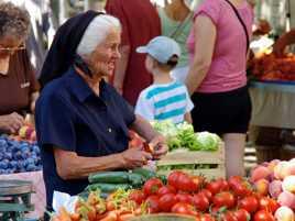 Sur le marché de Split