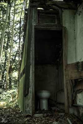 toilette en dehors de la maison