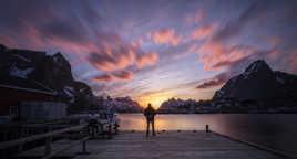 Sunset aux Lofoten !