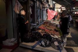 Marché du Rialto à Venise