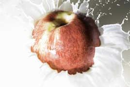Fruit sur fond blanc