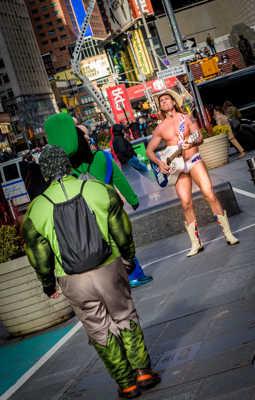 Naked Cowboy versus Hulk