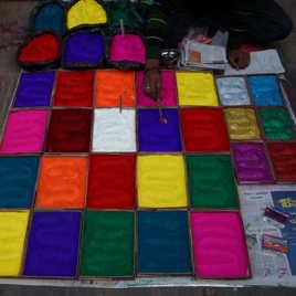 Damier multicolore