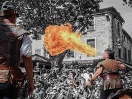 Arthur le cracheur de feu et Yvan