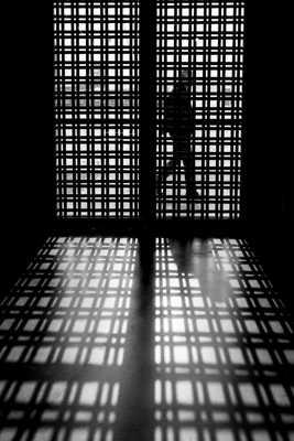 en cage?