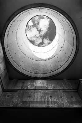 Un oeil dans l'architecture post-moderne