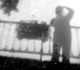 Silhouette en reflet