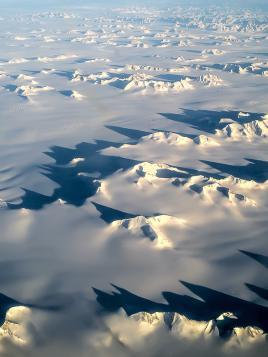 Cimes vue du ciel