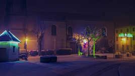 Saint Lager ,nuit d'hiver.