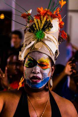 Femme déguisée au Carnaval Antillais