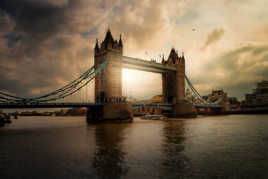 End day on tower bridge...