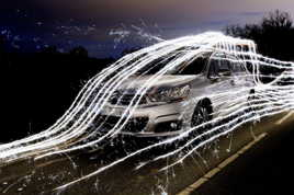 Light Painting automobile