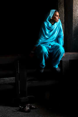 Blue Sari