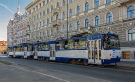 Tram à RIGA