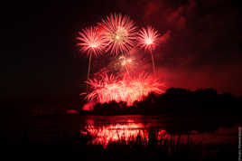 Le lac d'Auron en feu