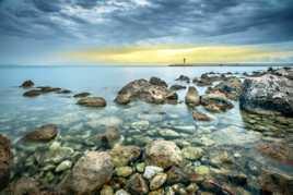 Sea, Rocks and Sun