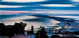 la nuit tombe sur Sète