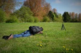 Photographe en pleine action