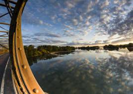 Pont de Mauves sur Loire au coucher