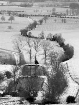Le lauragais sous la neige