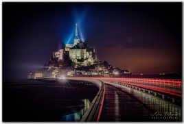 Mont St Michel sous la pluie
