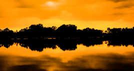 Soir au bord du lac