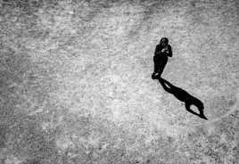 La photographe et so ombre