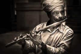 Flutiste du Rajasthan