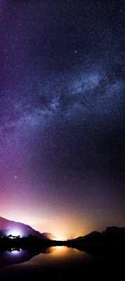 Ombres chinoises sur fond de Voie Lactée