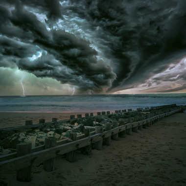Orage sur l'océan par Oxydo71