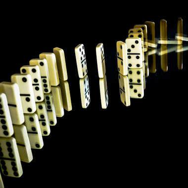 Serpent de dominos par Chrichri