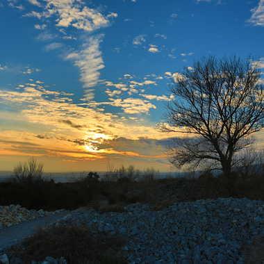 coucher de soleil d'hiver Minervois par andalouse