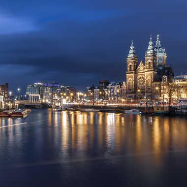 Amsterdam à l'heure bleue par Aurelien67
