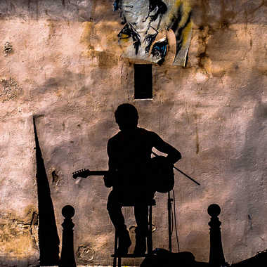 musicien de rue par dolan