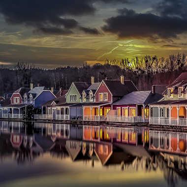 Petit village au coucher par 3pphoto