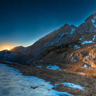 coucher de soleil au col de la colombière par lyscar