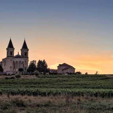 Eglise aux deux clochers de Régnié par patrick69220