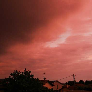 Arriver de l orage au coucher du solei  par brj01
