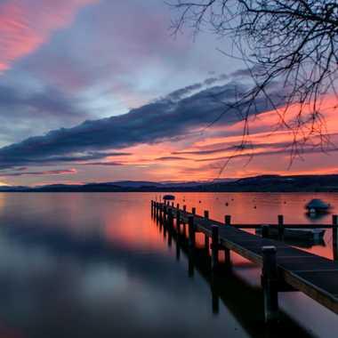 Coucher du soleil - lac de Morat par Andrea_Zehnder