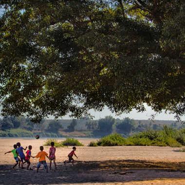 Jeux de ballon à l'ombre du grand arbre par patrick69220
