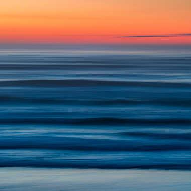 Un soir La plage de seignosse par Regis Parrens