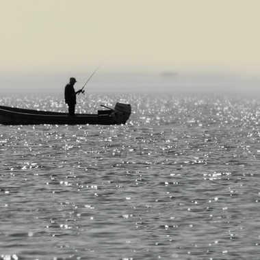 Pêcheur de sandre sur le St-Laurent par ChristianF