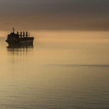 La baleine et le bateau par sined2009