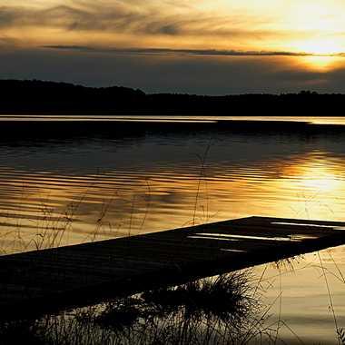 Couchant sur le lac par Valérie Dutertre
