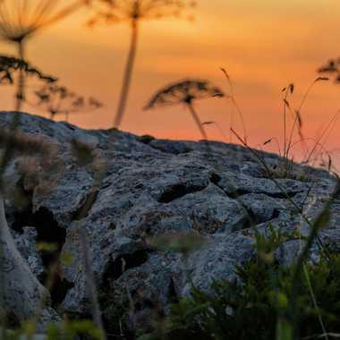 Rocher au coucher de soleil par brj01