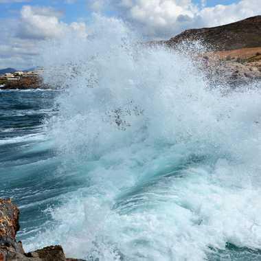 La vague par bleu
