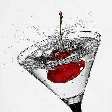 Red cherry cocktail.. par Micheldechelles