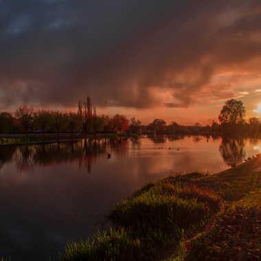 fin d'après-midi après la pluie sur le bassin d'Aron par Yoanfoto58